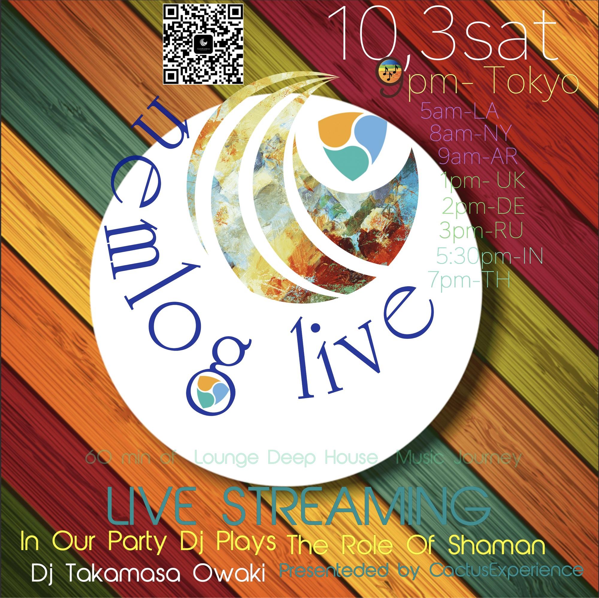 nemlog LIVE STREAM 10/3(sat) 9pm (JST) & NEW EVENT INFO by  DJ Owaki【English】