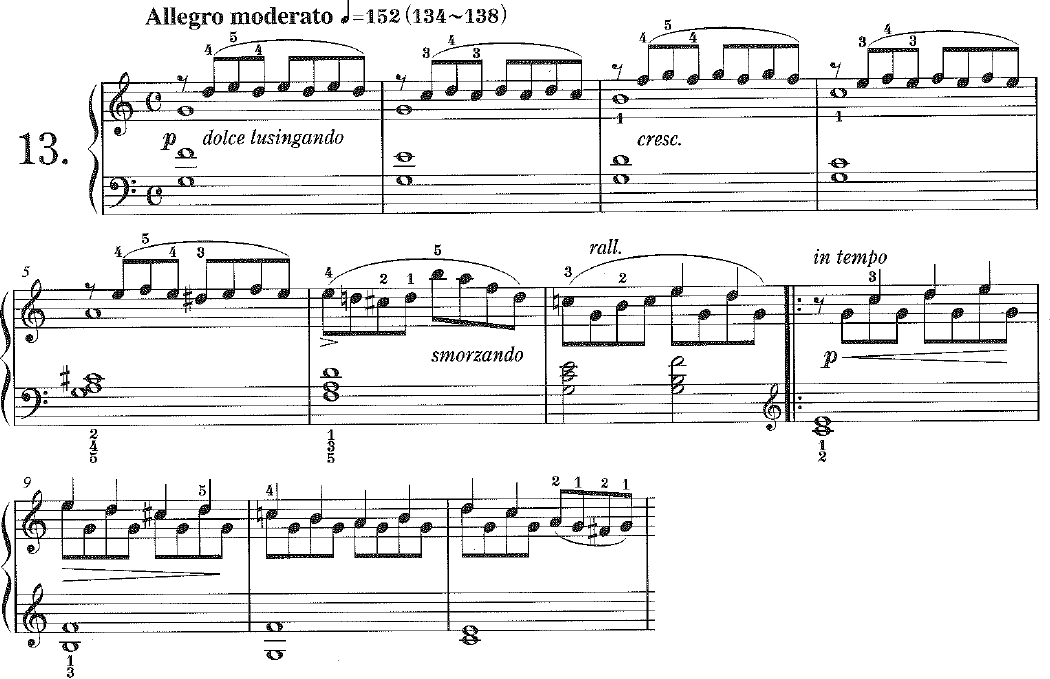 25 曲 ブルグミュラー の 練習