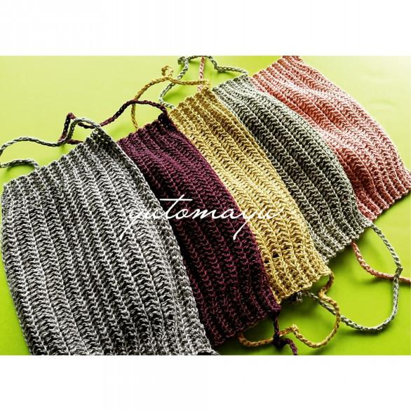レース 編み マスク