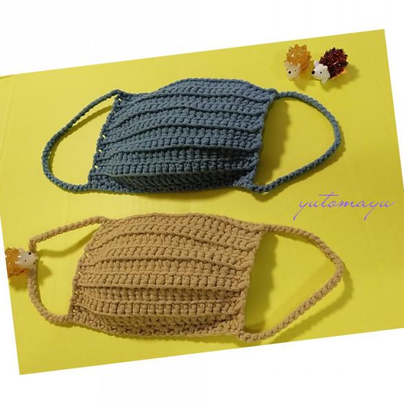 編み 図 マスク