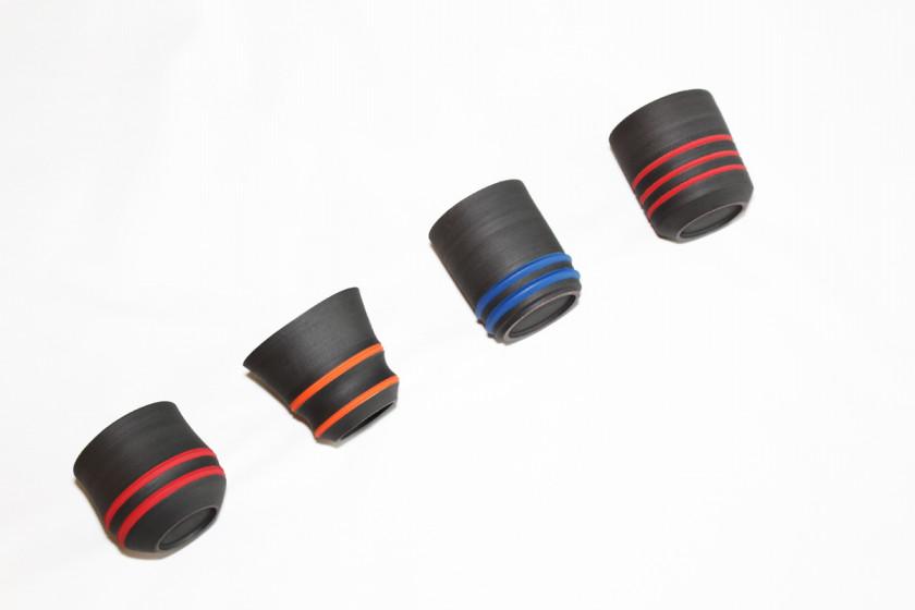スタイリッシュなフォルムと彩色と黒のコントラクトが美しい器 陶芸作家【酒井智也】さんの新作が入荷です