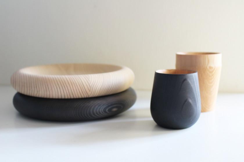自然の恵の魅力を存分に楽しめる美しい木の器 木工作家【FUQUGI/フクギ】LOOP プレート