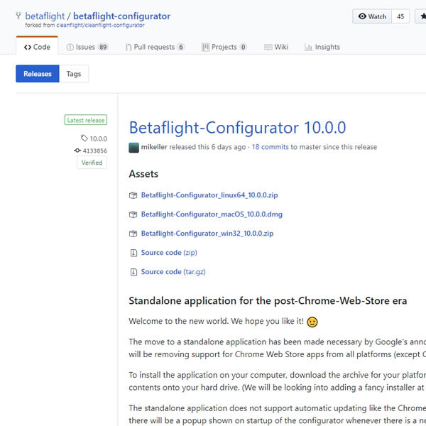 Betaflight-Configurator 10 0 0 正式版リリース | ハイ