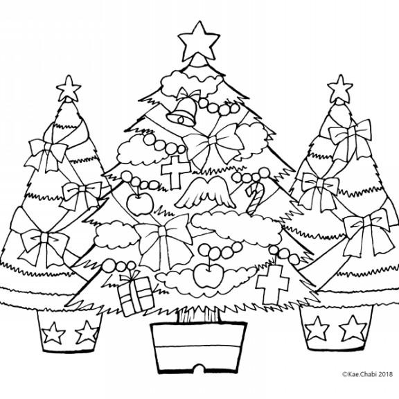 12月のイラスト ページ1 Chabis Coloring Calendar