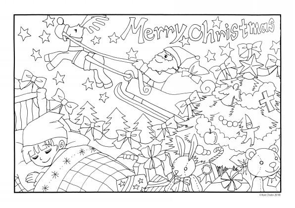 大人向け塗り絵 12月 メリークリスマス Chabis Coloring Calendar