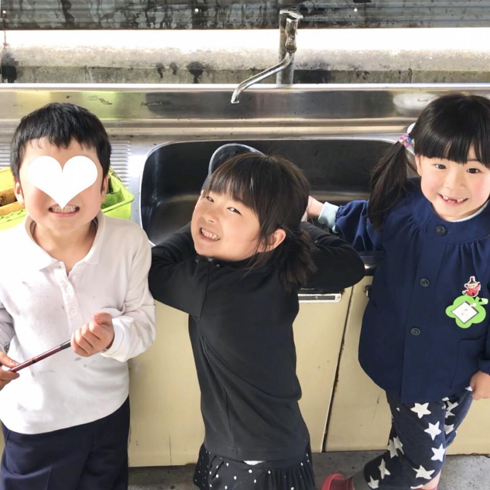 楽しい筆洗いタイム【【習字・書道@宇和島】】