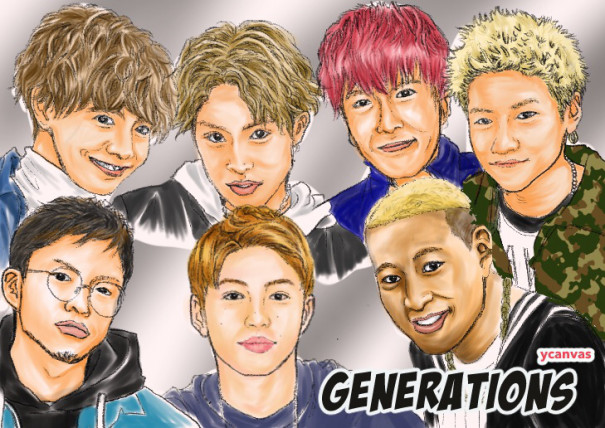 Generations の似顔絵 Y Canvas