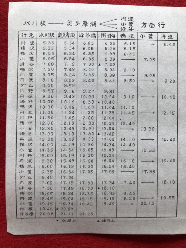表 西 時刻 東京 バス