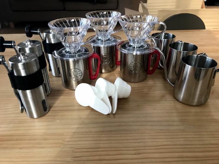 アウトドアで使うコーヒー道具