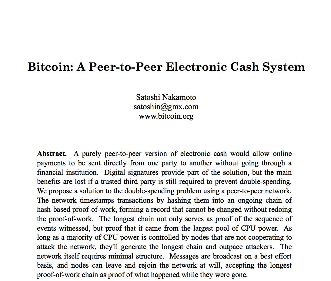 仮想通貨・ビットコイン生みの親「サトシ・ナカモト」の原論文を読んでみた | Dual Career