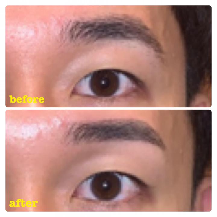 メンズ眉毛専門サロン アンプラスの眉スタイリングビフォー2