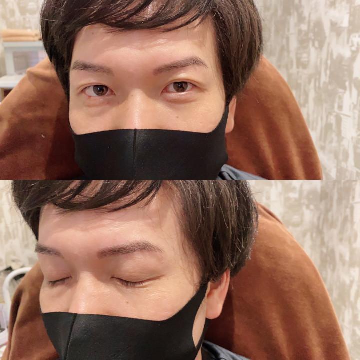 メンズ眉毛専門サロン アンプラスの眉スタイリングアフター1