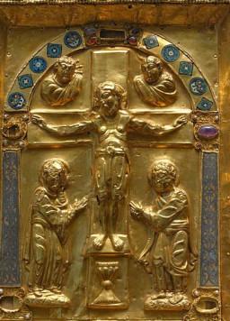 磔刑、四福音書記者の象徴(11世紀前半)   名画を読み解く